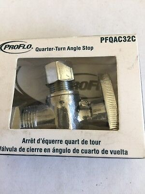 Nos Proflo Pfqac32C Quarter Turn Angle Stop 5/8 X 3/8 (Contains Lead)