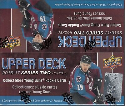 2016-17 UD Upper Deck Series 2 Hockey Factory Sealed Retail Box
