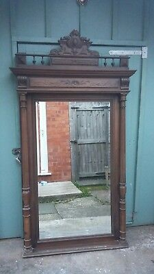 Antique large French Mirror - Wood