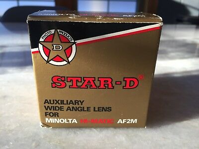 STAR-D AUXILIARY WIDE ANGLE LENS FOR MINOLTA HI-MATIC AF2M - Made in JAPAN!