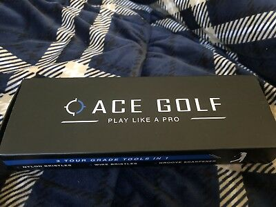 Golf Brush and Club Groove Cleaner Ace Golf