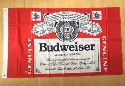 Budweiser Beer Flag 3x5 ft Banner Bar Restaurant Man Cave Advertising Bud Busch