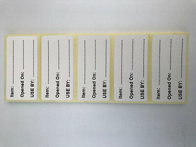 50-300 Food Labels - Item & Use By Date Adhesive Labels 50mm x 25mm Matt White