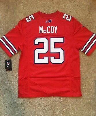 finest selection 55877 9a3ce NEW NIKE LESEAN McCoy Red Color Rush Legend Bills Stitched Jersey Mens  Medium M