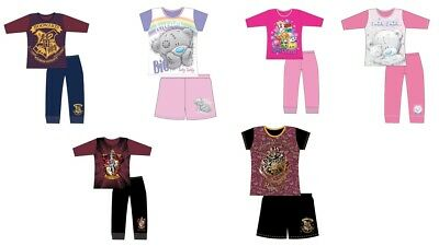 Girls Kids Tatty Teddy Harry Potter Shorts Pyjamas PJs Nightwear Long Length