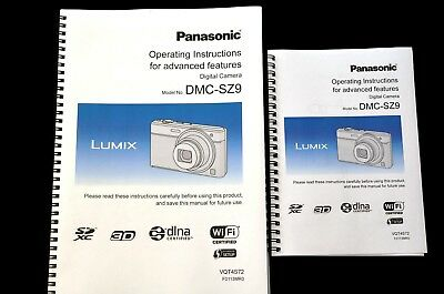 Panasonic Lumix DMC SZ9  User guide Instruction manual*PRINTED IN COLOUR* A4/A5