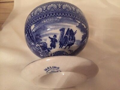 MALING Blue Egypt bowl with foot,Patent no: 22348 Beautiful item............ #2