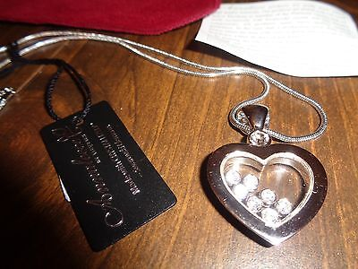 96c6466952902 ANNALEECE BY DEVRIES Swarovski Crystals in a 22K Plated Heart Necklace NEW  TAGS