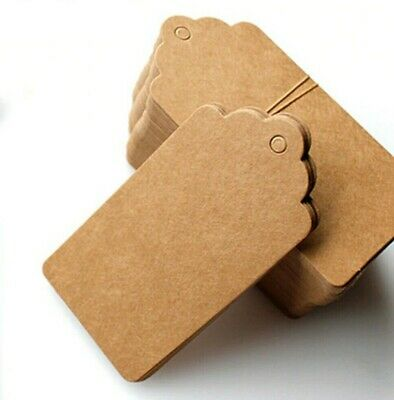 Eco Kraft Small Brown White Black Price Paper Tags Card Label 100 Per Pack