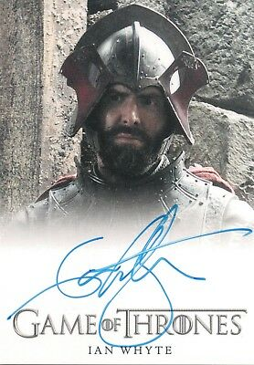 Game of Thrones Season 3, Ian Whyte 'Gregor Clegane' Autograph Card