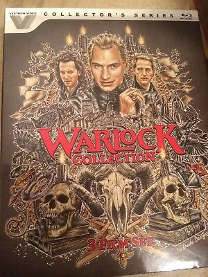 Warlock 1-3 Collection New Blu-Ray Disc Slipcover