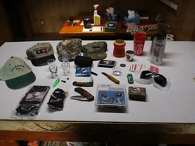 Junk Drawer Lot Camera, Knives, Hats, Steelers, Orioles