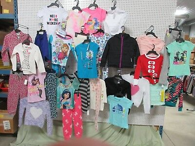 28 Girl Clothes Youth Size Small Lots Disney Route 66 Shirt Pants Sleepwear Bulk