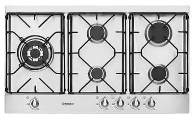 Westinghouse 90cm Stainless Steel Gas Cooktop WHG952SB