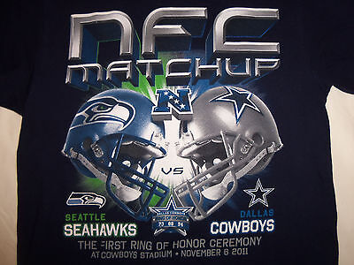 NFL Dallas Cowboys Football NFC Seatle Seahawks Matchup Navy Graphic T Shirt - S