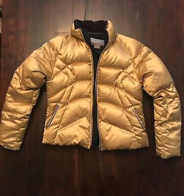 Nike Gold Glam Down Puffer Jacket 298401 H5QVE Size Large