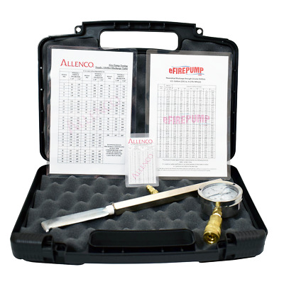 Allenco Pitot Kit w/ Case & Gauge (Fire Pump Hydrant Flow Testing, Hose Monster)