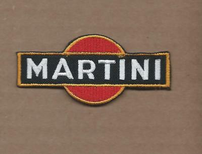 New 1 3/8 X 3 Inch Martini Racing Iron On Patch Free Shipping