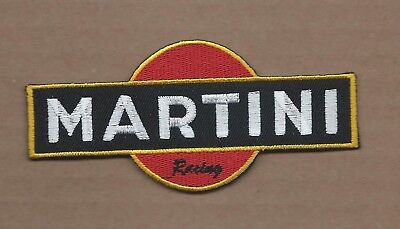 New 2 X 4 3/8 Inch Martini Racing Iron On Patch Free Shipping