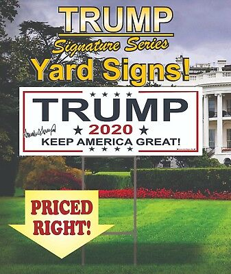 100 Trump 2020 Campaign Political Yard Signs / MAGA / Make America Great Again!