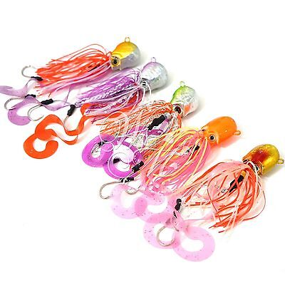 10pcs 4.25oz Fishing Weight Octopus Head Jig Jigging Lingcod Lure 5color New