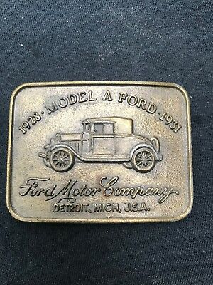Vintage 1928 -31 Model a Ford Solid Brass  Belt From A Buckle Collection
