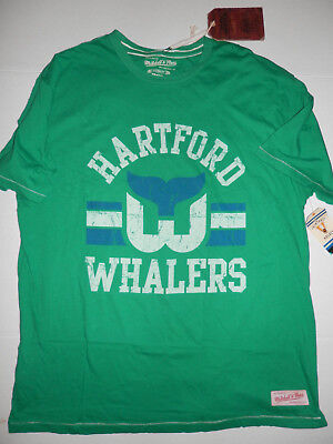 NEW Authentic Mitchell and Ness Vintage NHL Hartford Whalers T-Shirt Size  Medium 333a2e32f