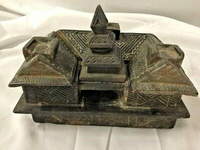 Superb Chinese Carved Puzzle Box - Qing Dynasty 19Th Century