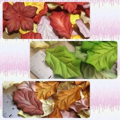 Artificial Mulberry Paper Flower Handmade Scrapbooking Poinsettias leaf Craft#AU