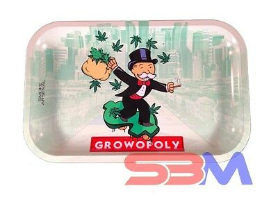Smoke Arsenal GROWOPOLY Tobacco Metal MEDIUM Rolling Tray 11x7