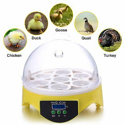 Automatic Digital Egg Incubator 7 Eggs Mini Poultry Chicken Duck Hatchers UK