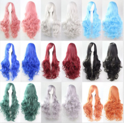 Womens Lady Girl Long Curly Wavy Hair Full Wig Party Costume Fashion CosplayWig