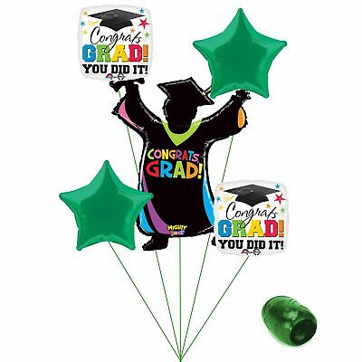 (green) - Congrats Grad You Did It Colourful School Colours Graduation 6pc