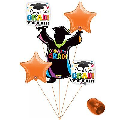 (orange) - Congrats Grad You Did It Colourful School Colours Graduation 6pc