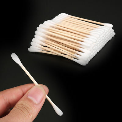 Cotton Buds Wooden Handle Stick Swabs Buds Clean Tools Medical Makeup Beauty
