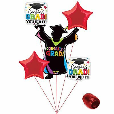 (red) - Congrats Grad You Did It Colourful School Colours Graduation 6pc