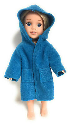 Blue Hooded Robe for 36cm American Girl Wellie Wisher Doll Clothes