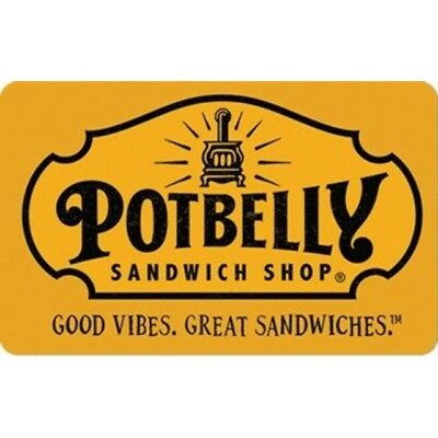 Potbelly Physical Gift Card - 50$ (GREAT DEAL - GREAT GIFT)