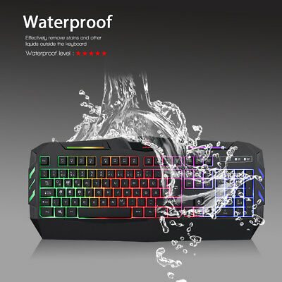Gaming Tastatur Keyboard Beleuchtet Keypad Gamer für PC deutsches Layout USB
