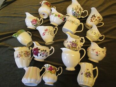 Fine Job Lot Of 5 Vintage Mismatch China Milk Jug For  Parties/tearooms,weddings