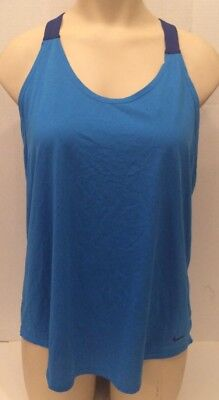 Nike Training Tank Top Drifit T Back Athletic Sleeveless Loose Fit Top Size L