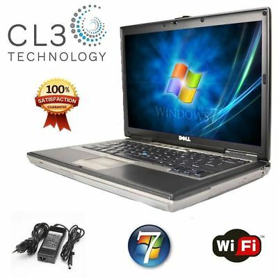 Dell Latitude Laptop Computer D Series Core Duo WiFi DVD Windows 7 Pro + HD