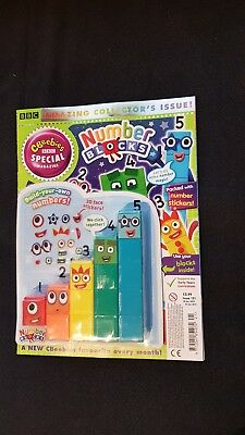 Cbeebies Numberblocks Magazine 1-5 Counting Blocks Issue 121 With Stickers