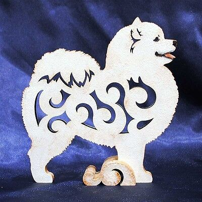 Samoyed dog figurine, statue  made of wood