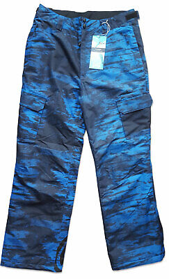 Boys Technical Animal Ski / Snowboard Trousers Child blue Camouflage Salopettes