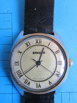 Very Rare Raketa 2609 Ha  Old Vintage  Soviet Mechanical Mens Watch  Jewels -13