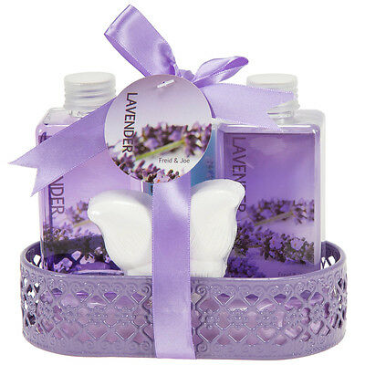 Mothers Day Gifts Lavender Gift Basket for Women Bubble Bath Bath Bomb & More