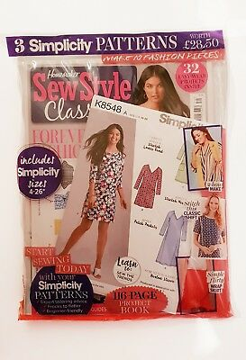 Home Maker Sew Style Classics With 3 Simplicity Patterns Worth £28.5 Magazie New