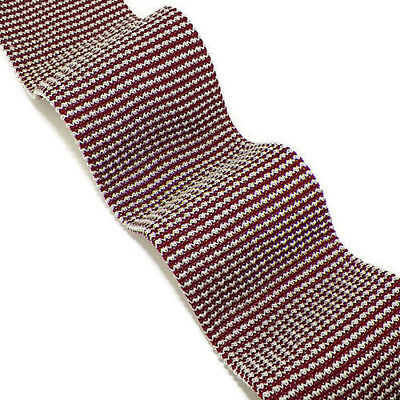 BRIONI Red White Striped Square Tip Handmade Silk Knit Tie Italy NWT