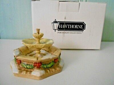 HUMMEL HAWTHORNE VILLAGE HOLIDAY PORCELAIN FOUNTAIN #91314 - New In Box